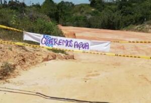 Habitantes de la vereda Patio Bonito en Barrancabermeja mantienen bloqueos como protesta a las graves afectaciones que ha causado la obra