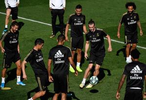 Entrenamiento de James Rodríguez con Real Madrid