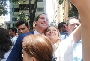 Juan Guaidó en aniversario del partido Acción Democrática