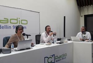 Gerente del Grupo EPM, Jorge Londoño, en la Gira RCN Radio.