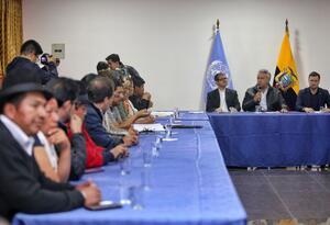 Indígenas de Ecuador con Lenín Moreno