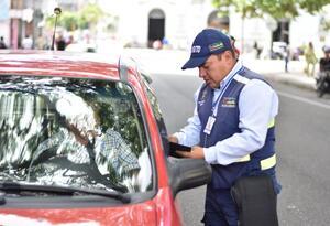 Agente de tránsito de Ibagué. Ilustración.