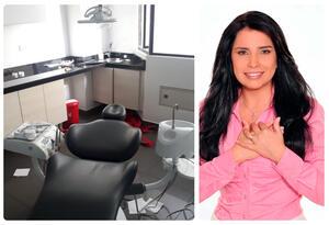 El consultorio odontológico desde donde escapó la excongresista Aida Merlano, a la derecha en la imagen