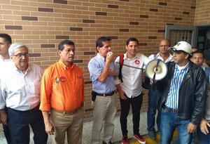 De izquierda a derecha. Leonidas López, Alberto Girón, Alfredo Bocanegra y Camilo Delgado.