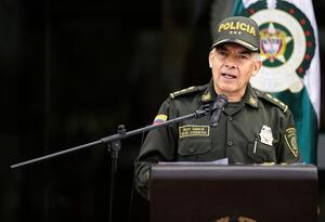 El general Óscar Atehortúa, director de la Policía Nacional