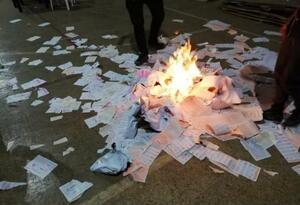 En Paz de Río Boyacá se registró quema de votos en las elecciones