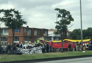 Marchas de estudiantes del Sena, en Bogotá