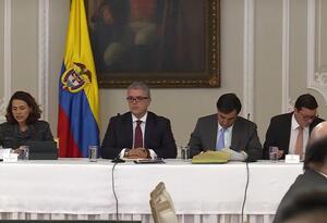 Presidente Iván Duque encabezó reunión para analizar la situación electoral del país.