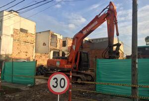 Demolición de predios para construcción del Metro para Bogotá.