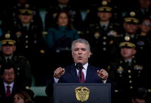 El presidente Iván Duque en la Escuela General Santander