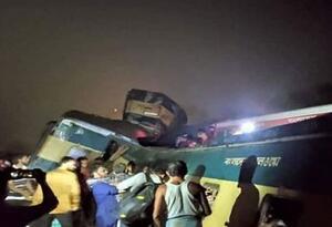 Accidente de trenes en Bangladesh