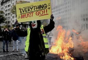 Manifestaciones en primer aniversario de chalecos amarillos en Francia