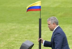 Presidente Iván Duque, encabezando una ceremonia militar.
