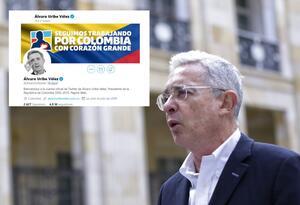 Twitter de Álvaro Uribe.