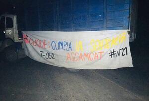 Bloqueo en la vía Cúcuta-Tibú