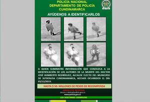 Cartel de presuntos responsables del asesinato de alcalde electo de Sutatausa.
