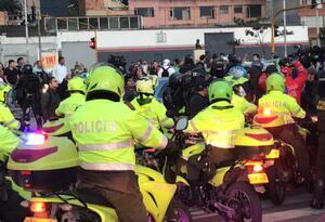 Choques durante plantón en Bogotá