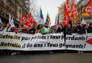 Huelga general contra reforma pensional en Francia