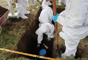 En el cementerio Las Mercedes de Dabeiba habrían 50 cuerpos de falsos positivos.