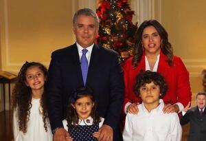 Presidente Iván Duque y su familia entregan mensaje de Navidad al país