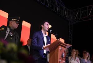 Daniel Quintero Calle en su toma de posesión como Alcalde de Medellín