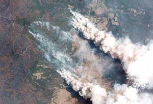 Humo de los incendios de Australia