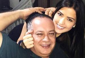 Diosdado Cabello y su hija
