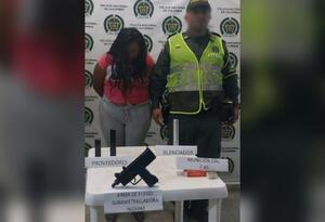 Mujer capturada en Cisneros, Antioquia