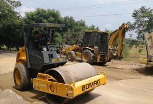 Trabajos de reparación vía Cúcuta-Ocaña-Tibú