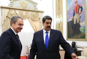 Maduro alabó la disposición de Rodríguez Zapatero de ayudar en la crisis política venezolana