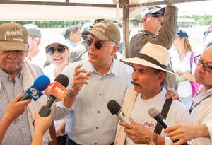 Presidente Iván Duque, durante su visita a zonas Pdet en Caquetá