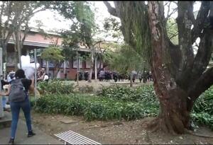 Disturbios en la Universidad de Antioquia.