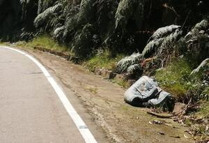 Basuras en zona rural de Colombia