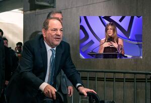 Harvey Weinstein y Jennifer Aniston