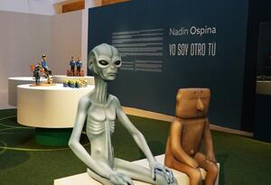 Exposición de Nadín Ospina en Madrid, España.