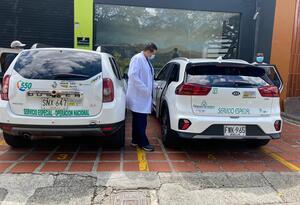 Los 80 vehículos ya están a disposición de 24 instituciones de salud en Medellín