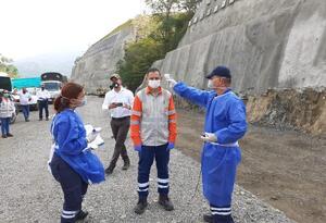 Obras de Pacífico 1 en Antioquia.