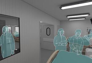 Estudiantes de la Universidad Nacional crean UCI portátil para pacientes de COVID-19