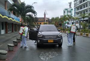 Desinfección de vehículos en Buenaventura
