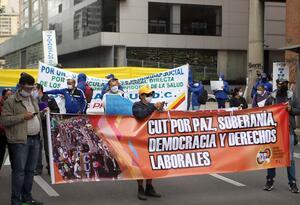 Protestas en Bogotá por falta de ayudas