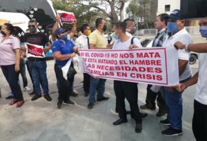 Transportadores salieron a protestar.