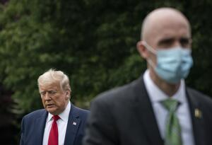 Donald Trump, presidente de EE.UU. en cuarentena