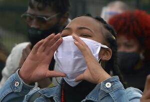 Protestas frente a embajada de Estados Unidos / Muerte de George Floyd por racismo