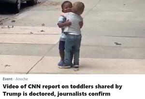 Alerta de Twitter de video manipulado y compartido por Donald Trump