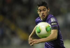 James Rodríguez en 2013 cuando jugaba en el Porto