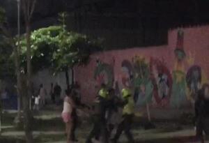 Presunta agresión policial.