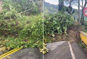 Vía cerrada entre Ibagué y Cajamarca