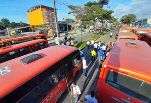 Protesta de transportadores en Ibagué