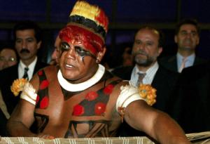 Cacique Aritana Yawalapiti, reconocido líder indígena de la Amazonía brasileña
