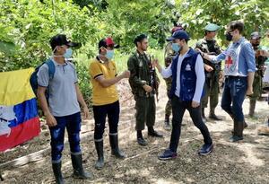 Comisión de la Defensoría, La Cruz Roja y La Iglesia que recibió a los jóvenes liberados en el Catatumbo